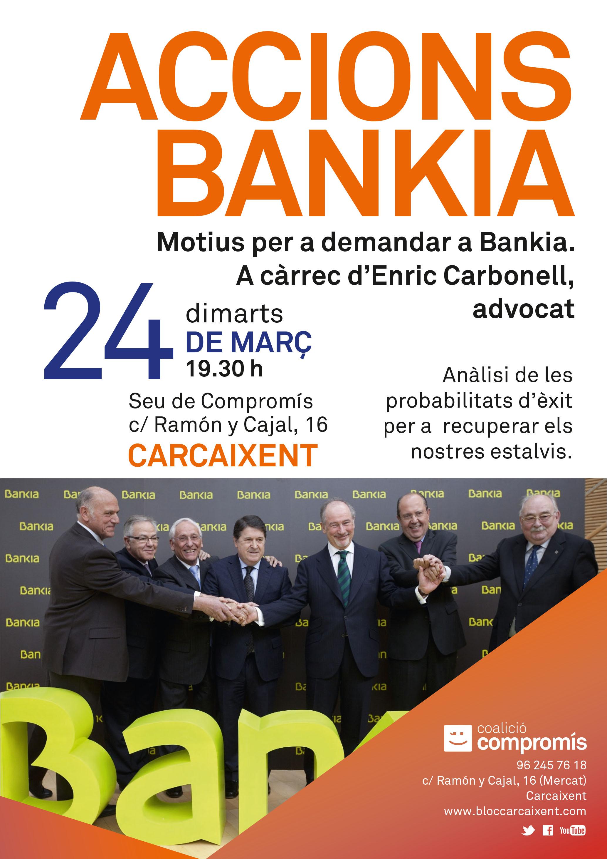 CONFERÈNCIA COL.LOQUI: ACCIONS BANKIA. MOTIUS PER A DEMANDAR A BANKIA.